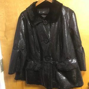 Rachael Zoe black faux snake leather sz 1X